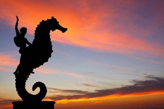 Puerto Vallarta's Seahorse sculpture