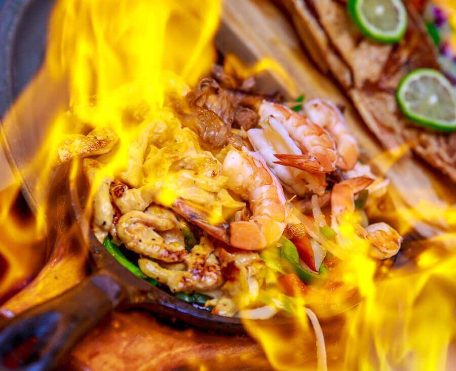 Fajita In Flame in Puerto Vallarta