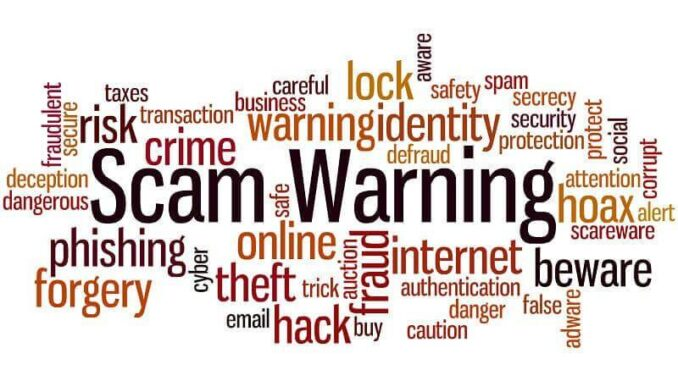 Signs of a Scam